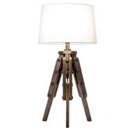 Modern Home Mariner Nautical Wooden Tripod Table Lamp