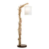 Modern Home Offset Driftwood Nautical Wooden Floor Lamp