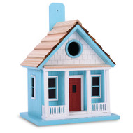 Outdoor Wooden Birdhouse, Bird-Friendly Perch (Cape Cod)