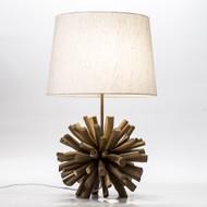 Modern Home Nautical Driftwood Ball Table Lamp - Brown