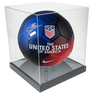 OnDisplay Deluxe UV-Protected Soccer Ball/Volleyball Display Case - Black Base - Luxe Handmade Acrylic Design