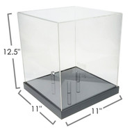 OnDisplay Deluxe UV-Protected Soccer Ball/Volleyball Display Case - Black Base