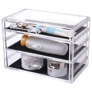 OnDisplay Cosmetic Makeup and Jewelry Storage Case Display - 3 Drawer Design - Perfect for Vanity, Bathroom Counter, or Dresser