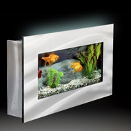 Aussie Aquariums Wall Mounted Aquarium - Mini Silver