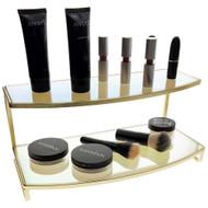 OnDisplay Gianna Iridescent/Gold Mirrored Cosmetic/Jewelry Display Stand