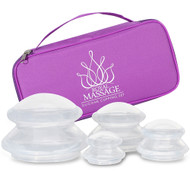 Royal Massage™ Silicone Cupping Therapy Set - Clear Massage Cupping Therapy Vacuum Suction Cups - Anti Cellulite, Detox, Joint Pain Relief