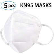 Set of 5 KN95 Mask 4-Layer Face Masks - Adult Anti-Fog Dust-Proof Non-Woven Fabric Mask - FAST FREE SHIPPING FROM USA