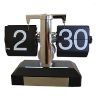 Modern Home Contemporary Retro Style Flip Desk Clock - London Clock w/Light