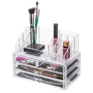 OnDisplay 4 Drawer Tiered Acrylic Cosmetic/Jewelry Organizer