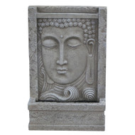 Modern Home Courtyard Buddha Head Wall Mount/Floor Waterfall Fountain