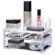 OnDisplay 3 Drawer Tiered Acrylic Cosmetic/Jewelry Organizer