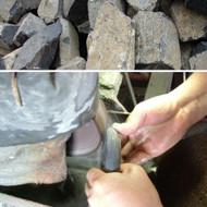 60pc Massage Basalt Stone Set w/Wooden Case