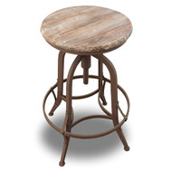 Set of 4 Chester Retro Steel Rotating Adjustable Height Barstool - Fire Brown