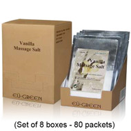 Royal Massage Natural Sea Salt Mineral Massage Scrubbing Salts Case (80g packets x 80) - Vanilla