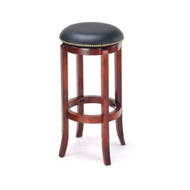 Set of 2 Manchester Contemporary Wood/Faux Leather Barstool - Black