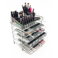 OnDisplay 5 Tier Chromed Steel Frame Acrylic Cosmetic/Makeup Organizer