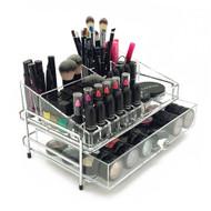 OnDisplay 2 Tier Chromed Steel Frame Acrylic Cosmetic/Makeup Organizer