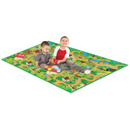 PlayScapes Portable Instant Children's Floor Play Mat - Farm