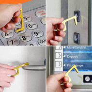 No Contact Sanitary Key - Touchless Non-Contact Door Opener/Button Press/Stylus - Avoid Touching Door Handles, Light Switches, ATM, Elevator Buttons and More