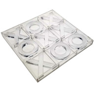 OnDisplay Luxe Acrylic Tic Tac Toe Set - Executive Crystal Clear Laser Cut Acrylic Game (Clear)