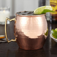 Set of 2 Modern Home Authentic 100% Solid Copper Hammered Moscow Mule Mug - Handmade in India