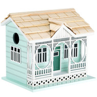 Outdoor Wooden Birdhouse, Bird-Friendly Perch (Savannah Cottage)
