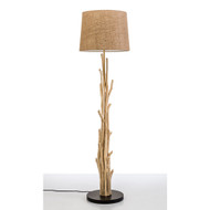 Modern Home Nautical Driftwood Branch Wooden Floor Lamp - Ocean/Beach/Seaside Theme Decor Light for Beach House