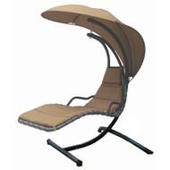 Modern Home Island Breeze Swing Lounge Chair - Beach Sand