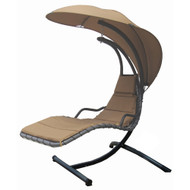 Modern Home Island Breeze Swing Lounge Chair - Beach Sand