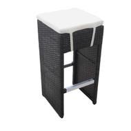 Hampton Woven Wicker Outdoor Chair/Bar Stool - Espresso