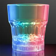 Set of 4 Modern Home LED Light Whiskey Lowball Glass