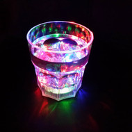 Set of 4 Modern Home LED Light Whiskey Lowball Glass