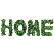"""Modern Home 12"""" Real Preserved Boxwood Monogram Wreath Letters H-O-M-E"""