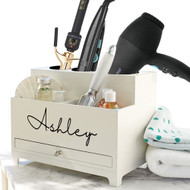 OnDisplay Makayla Deluxe Hair Tool and Accessory Organization Station (Personalized)