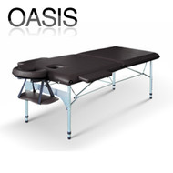 Oasis Elite Professional Aluminum Portable Folding Massage Table - Black