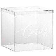 """OnDisplay 10"""" Luxe Acrylic Clear Wedding Card Box w/Lid - Lucite Gift/Money Box - Bar Mitzvah/Birthday/Sweet 16/Anniversary"""