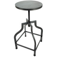 Set of 2 Bristol Retro Steel Rotating Adjustable Height Barstool - Vintage Pewter