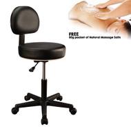 MT Backrest Stool - Black