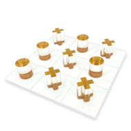 OnDisplay 3D Luxe Acrylic Tic Tac Toe Set, Gold