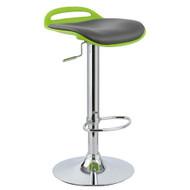 Set of 4 Beckham Contemporary Adjustable Barstool - Lime Green