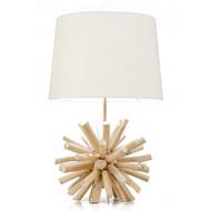 Modern Home Nautical Driftwood Ball Table Lamp
