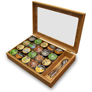 Modern Home Bamboo Keurig® K-Cup or Nespresso® Vertuoline Organizer/Display Box with Accessory Section