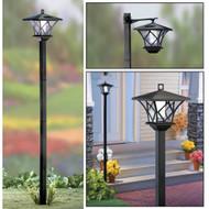 Set o2 2 Modern Home Solar LED Street Lamp Post - Outdoor Dual Mode Sun Powered Ambient Light