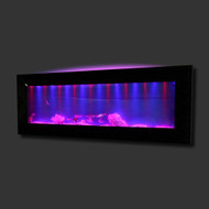 Aussie Aquariums Mirrored Glass Wall Mounted Aquarium - Horizon Black