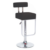 Set of 4 Blok Contemporary Adjustable Barstool - Black Licorice