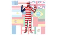 AltSkin Full Body STRETCH FABRIC Suit - World Flag Design