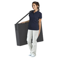 Luxor Elite Professional Oversized Portable Folding Massage Table w/Bonuses - Charcoal Black