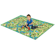 PlayScapes Portable Instant Children's Floor Play Mat - Zoo