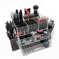 OnDisplay Amara 3 Drawer Tiered Acrylic Makeup/Jewelry Organizer