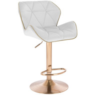 Modern Home Luxe Spyder Contemporary Adjustable Suede Barstool - Modern Comfortable Adjusting Height Counter/Bar Stool